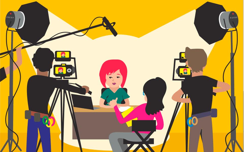 Vídeos para EAD - set de filmagem